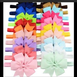 """Other - 20 piece 3"""" Hair-bows with headbands New"""